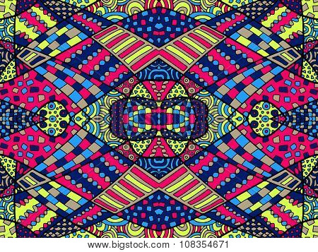 Zentangle Abstract Background Colorful 1