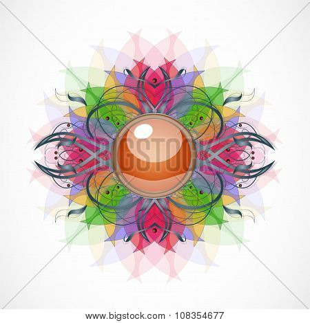 Abstract transparent background with broach.