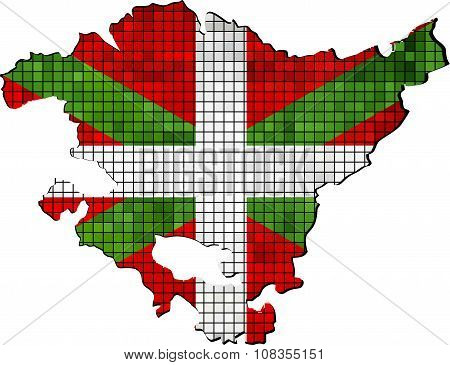 Basque Map With Flag Inside.eps