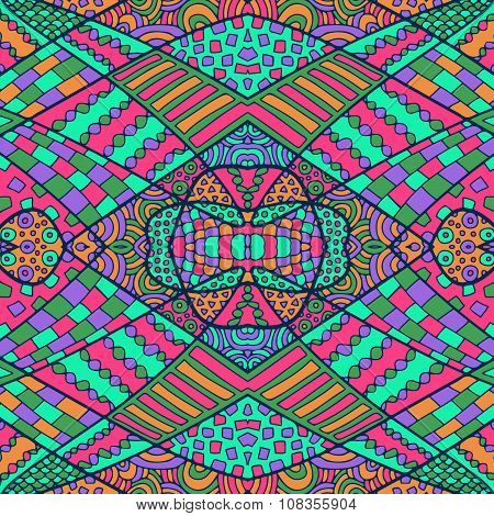 Zentangle Abstract Background Colorful 7