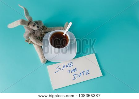 Cute Rabbit Doll With Message