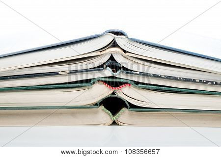 Stacked Open Books