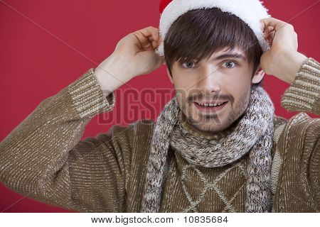 Man In Santa Hat