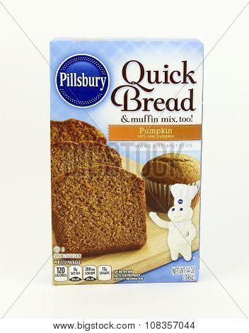 Box Of Pillsbury Quick Bread Pumpkin Muffin Mix