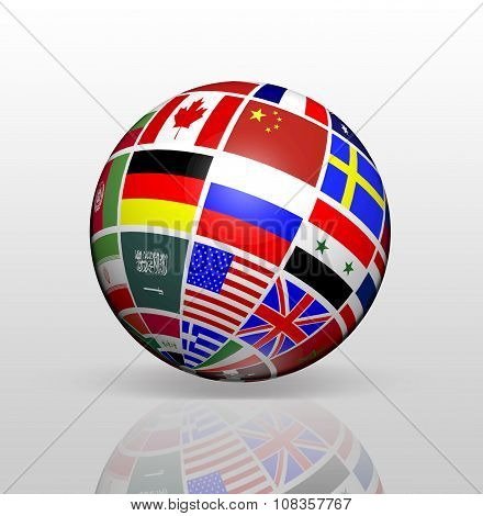 International Flags Globe