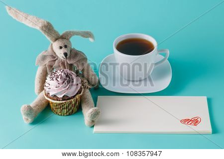 Rabbit Doll With Cupcake