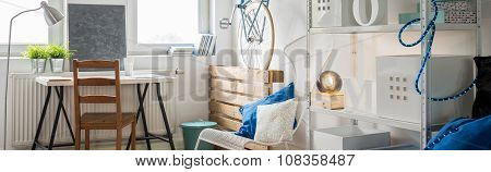 Bright Studio Flat Interior