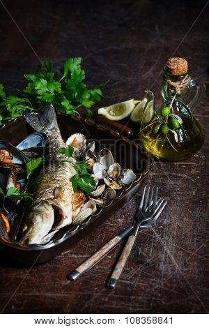 Tasty Baked Fish And Seafood