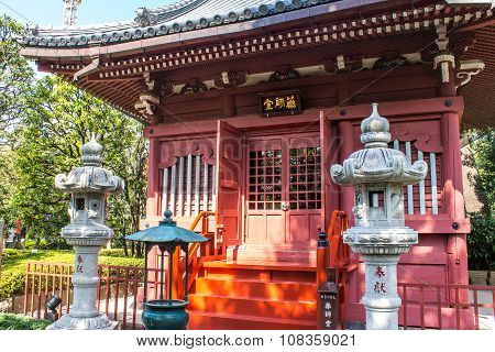 The Yakushido Hall At Senso-ji Temple In Tokyo, Japan