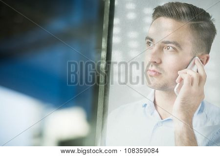 Man Talking On Mobilephone