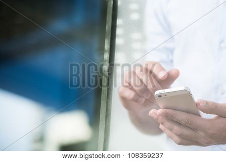 Person Using Smartphone