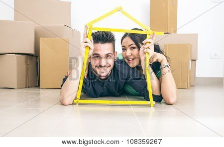 Young Couple Getting New House