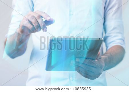 Creative Person Working On Tablet