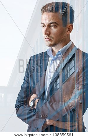 Businessman And Modern Building