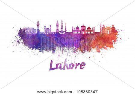 Lahore Skyline In Watercolor