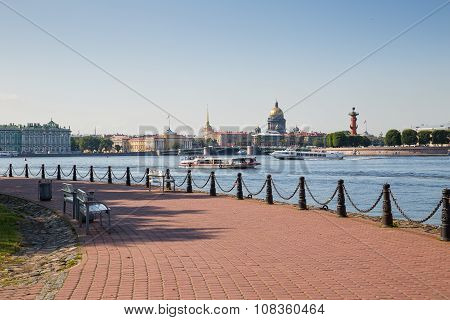 View Of St. Petersburg At Summer Day
