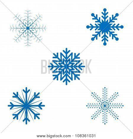 Openwork Christmas snowflakes in vector format