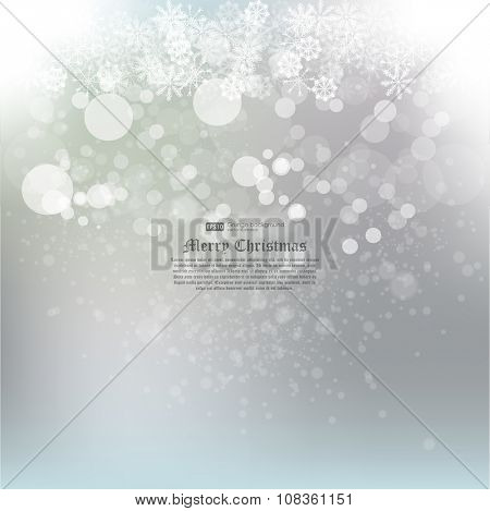 New year abstract background. Abstract Winter background.Christmas abstract bokeh. Vector