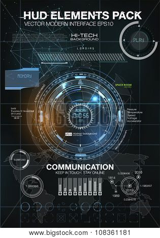 infographic elements. futuristic user interface HUD. Mobile application HUD interface design. Infographic elements for projects. Space galaxy futuristic user interface HUD UI UX science background