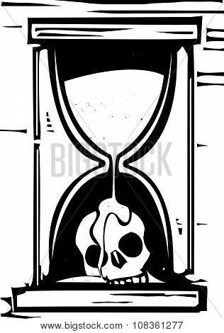 Skull Hour Glass