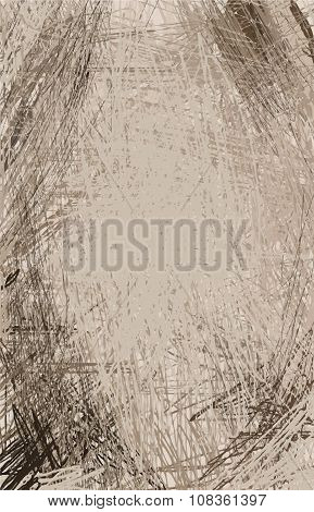 Grange Texture. Brown And Ochre Vector Background