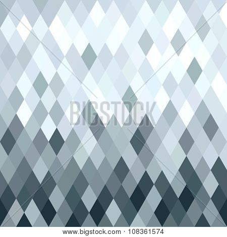 Silver Metal Rhombus Geometry Seamless Pattern