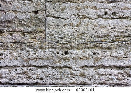 Texture of the brickwork