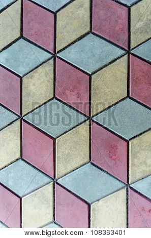 Showy background  of three color tile pattern