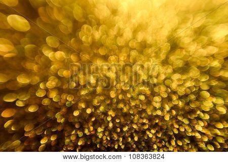 Lights Background, Abstract Blurred Light, Yellow Defocused Bokeh Lighting