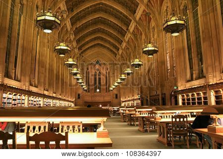Interior of library at the University of Washington in Seattle