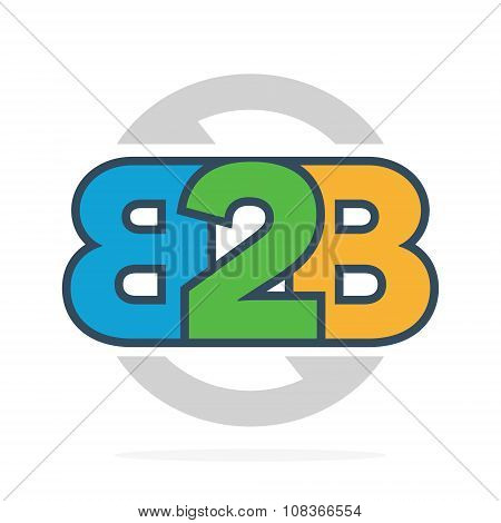 B2B letters logo or icon. Business to Business symbol