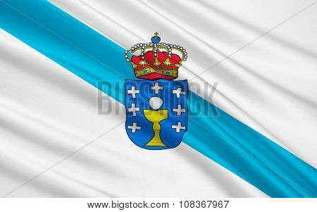 Flag Of Galicia, Spain