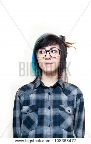 Young Alternative Girl Neutral Portrait