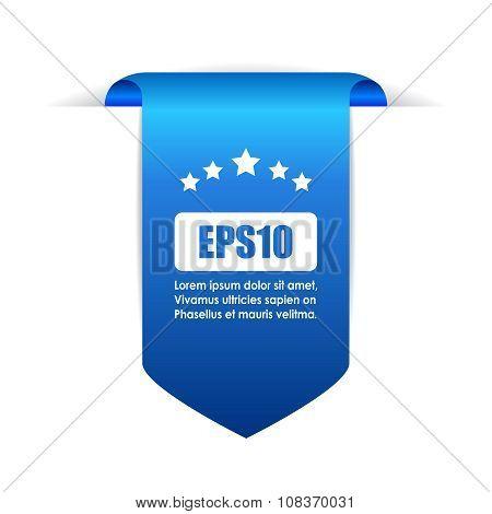 Blue bookmark ribbon
