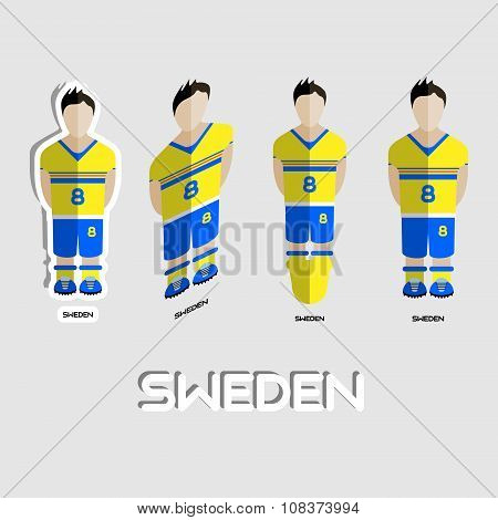 Sweden Soccer Team Sportswear Template