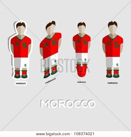 Morocco Soccer Team Sportswear Template