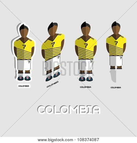 Colombia Soccer Team Sportswear Template