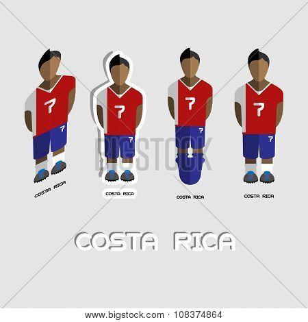 Costa Rica Soccer Team Sportswear Template