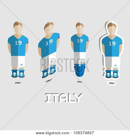 Italy Soccer Team Sportswear Template