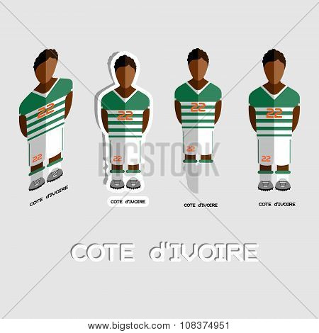 Cote D'ivoire Soccer Team Sportswear Template