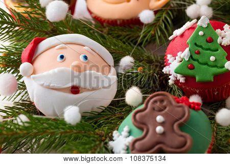 close up of festive Christmas mini dessert