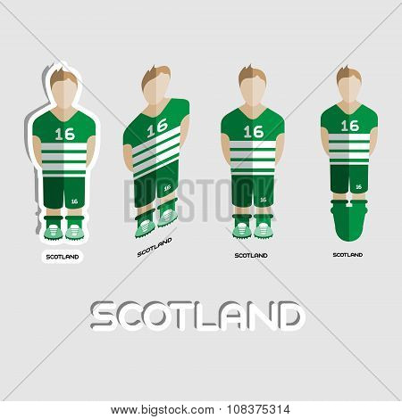 Scotland Soccer Team Sportswear Template