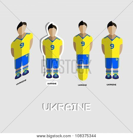 Ukraine Soccer Team Sportswear Template