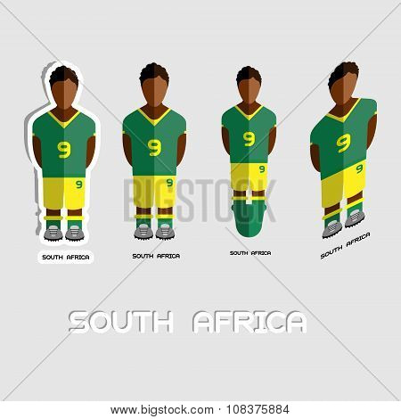 South Africa Soccer Team Sportswear Template