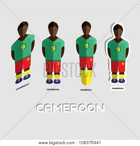 Cameroon Soccer Team Sportswear Template