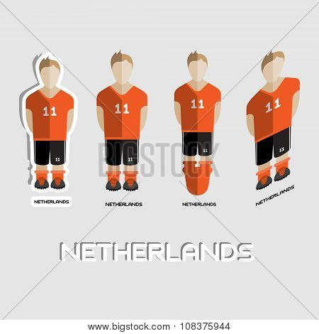 Netherlands Soccer Team Sportswear Template