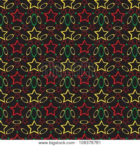 Seamless Pattern With Different Geometric Figures, Shimmering Continuous, Luxury Backgroun