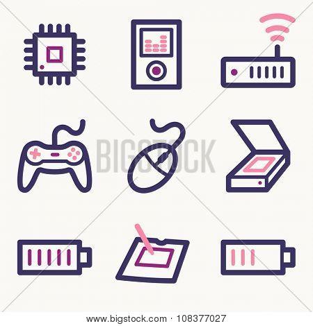 Electronics web icons
