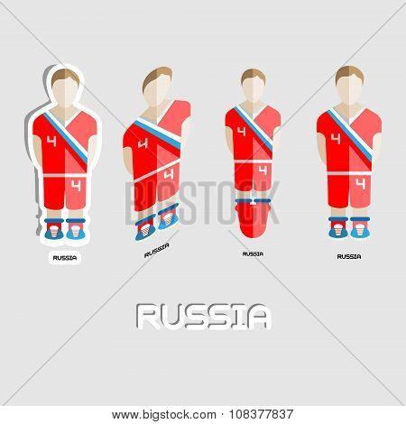 Russia Soccer Team Sportswear Template
