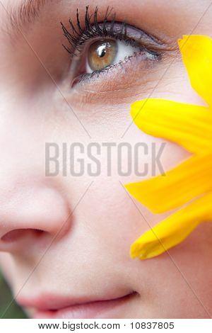 Yellow Flower Girl